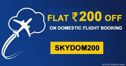 Flat Rs. 200 OFF on Domestic Flight Booking