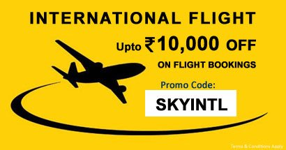 International Flight - Upto Rs. 10,000 off on Flight Bookings